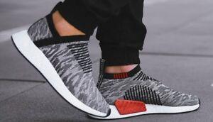 a8f6ea4aec253 Adidas NMD CS2 Primeknit City Sock Pack Black Grey Mens Ultra ...