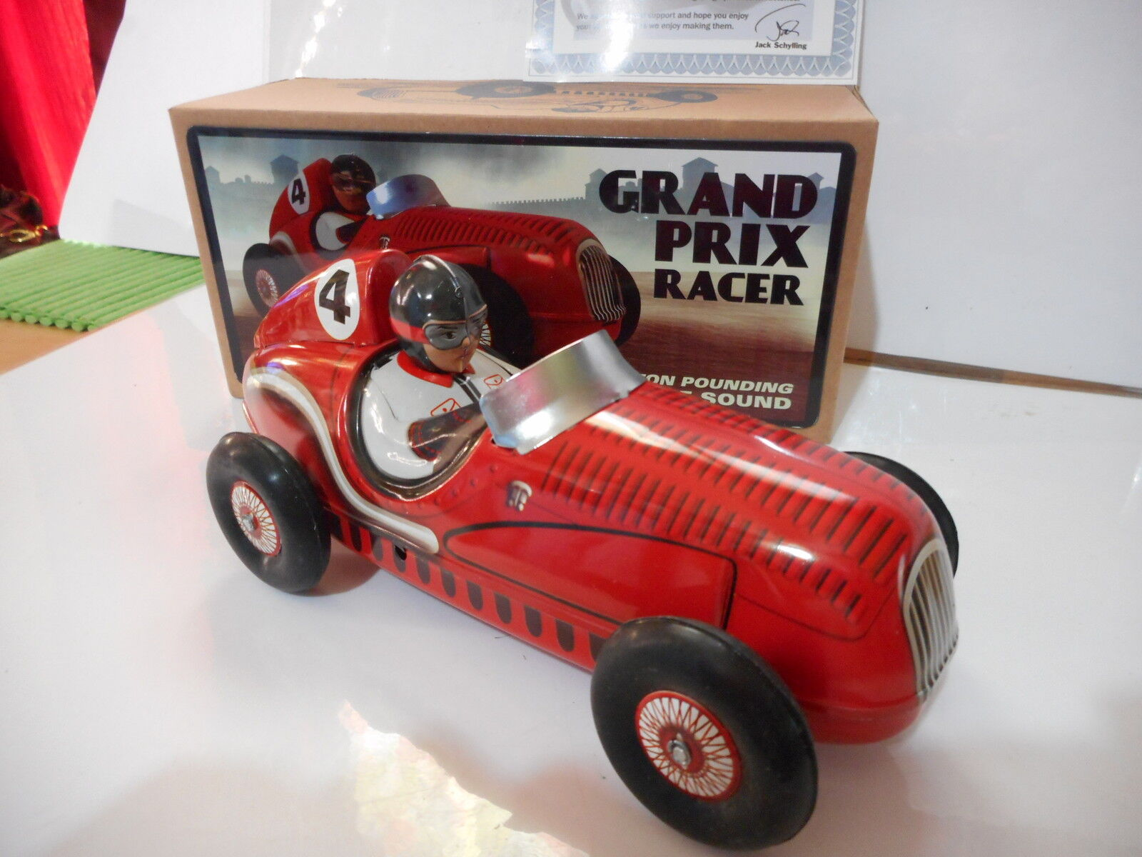 Tole tin Juguete grand  prix racer schylling friction