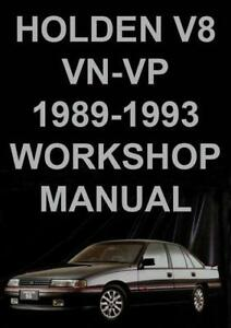 holden commodore vn vp series workshop manual ebay rh ebay com au workshop manual vp commodore VR Commodore