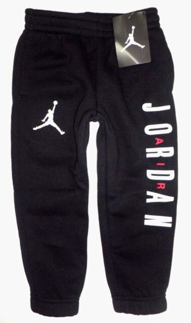 133f39ea550270 NIKE AIR JORDAN Toddler Boys JUMPMAN Cotton Fleece Jogger Sweat Pants BLACK  3T