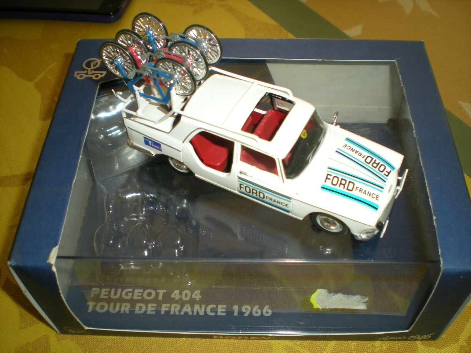 Peugeot 404 tour de france 1966 norev vehicule  equipe ford  profiter de vos achats