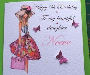 Personalised handmade birthday card 13th 16th 21st 18th daughter image is loading personalised handmade birthday card 13th 16th 21st 18th bookmarktalkfo Choice Image