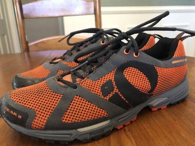Mens Ip Pearl Izumi Mesh Running Shoes Size 9 Orange Peak Ii Run Like An Animal