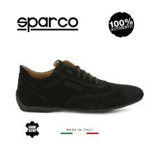 Sparco Mens Genuine Black Suede GP Sneakers Sport Casual Driving Racing Shoes
