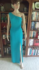 211a60f5a5 Gianni Bini Sz M Long Formal Turquoise Green Dress Org  149 Slit ...