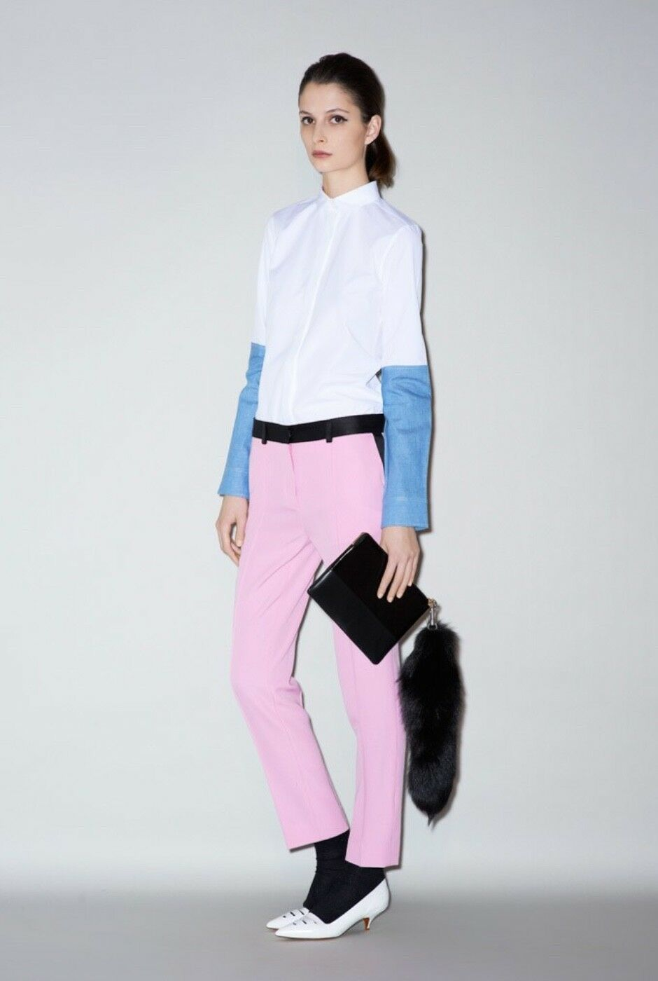 Céline  Pre-fall 2011 Rosa Pants Trousers straight cut Größe 36 Phoebe Philo