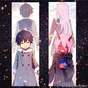 "Anime  DARLING in the FRANXX Cute Zero two Hiro Dakimakura Body Pillow Case 59/"""