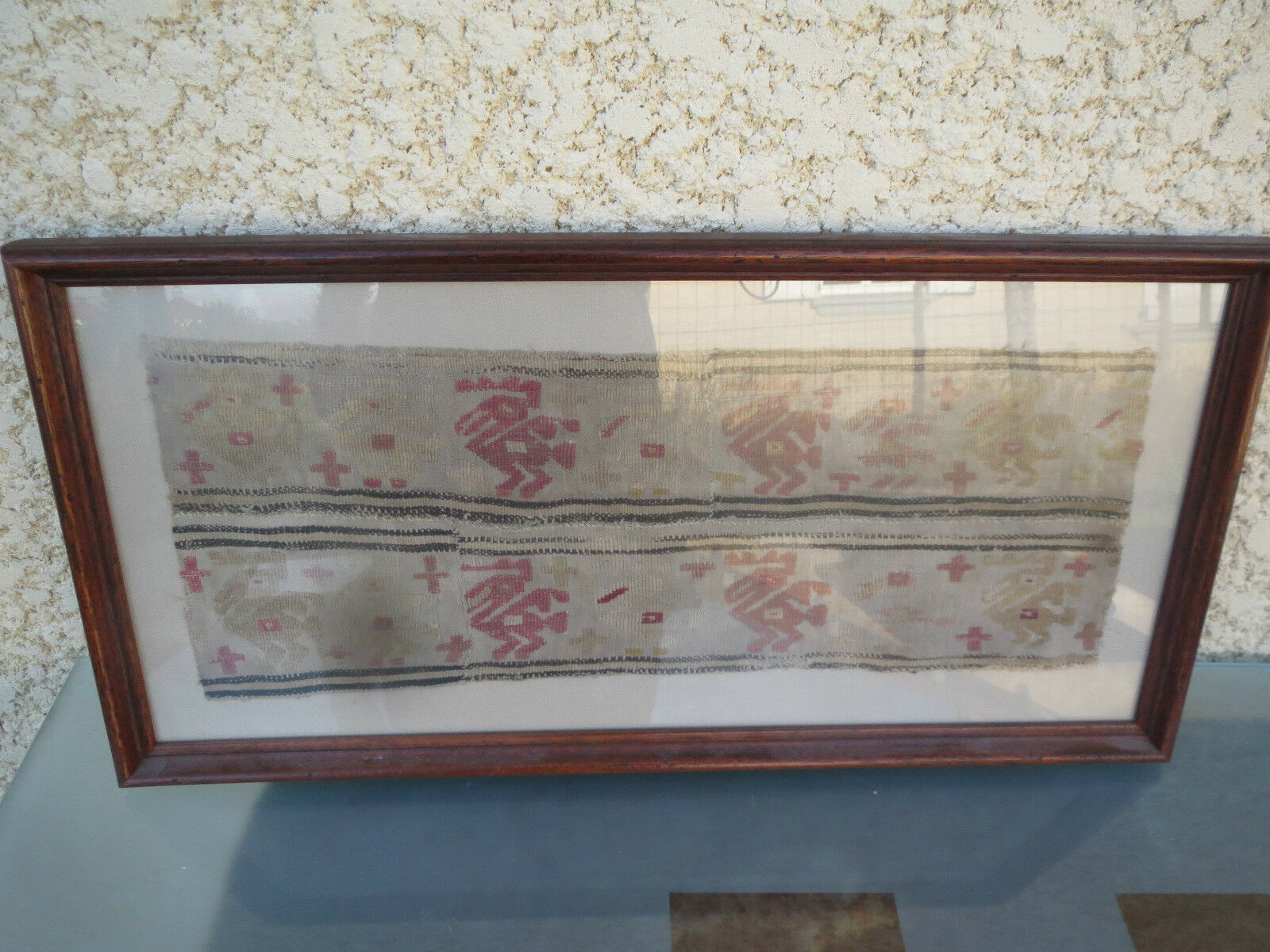 Stoff Antik Präkolumbianischen Alte Textil Südamerika
