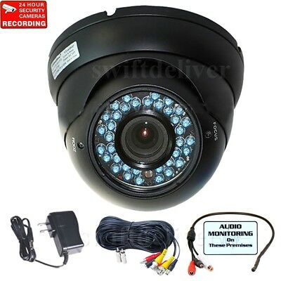 700TVL Security Camera Outdoor Night Vision Varifocal Lens IR w// Power Cable cce
