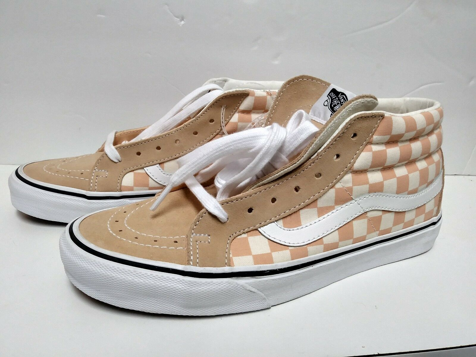 45bd5022581 VANS Mens Sk8-mid Reissue Checkerboard Shoes Checker Mens 9 for sale ...