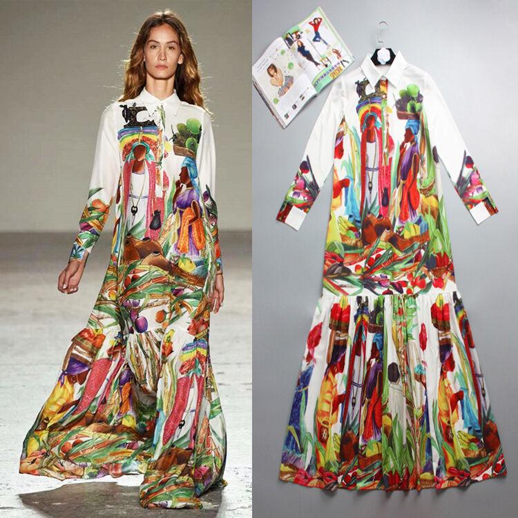 Femme Défilé Inspiration Créat Robe D& 039;Été Grande Größe