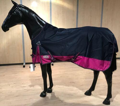 Pferdo 24 pluie couverture Londres Polaire Navy//Pink Pâturage Couverture 1200 Denier Top daselfo