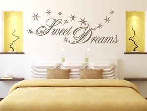 Details zu Wandtattoo Wandsticker Sprüche Sweet Dreams | Schlafzimmer |  Wohnzimmer Sticker