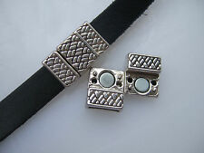 5/10 Sets Antique Silver/Bronze 10x2mm Magnetic Clasp For 10mm Flat Leather Cord