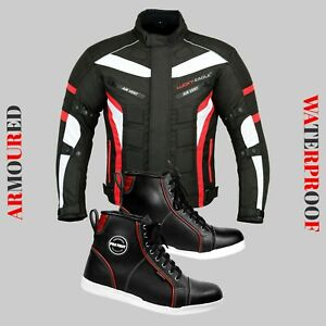 Motorcycle-Racing-Jacket-Waterproof-Coat-Leather-Shoes-Adventure-Touring-Boots