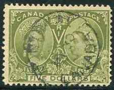 Canada Scott 65 - $5 Jubilee Used CV $1100 CDS