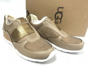 9076c297dd7 Details about UGG Annetta Slip-On Sneaker Trainers Athletic Fashion Shoes  Dark Gold 1019657