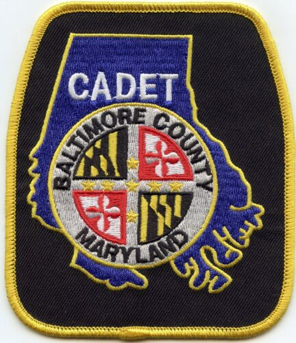 BALTIMORE COUNTY MARYLAND MD Police Cadet POLICE PATCH