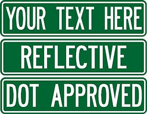Real-custom-street-sign-080-thick-2-sided-REFLECTIVE-road-sign-DOT-APPROVED