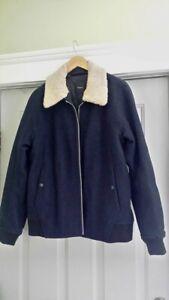 fbb9889deef3 Image is loading 695-Theory-Melton-Wool-Bomber-Jacket-Shearling-Collar-