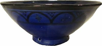 """Moroccan Ceramic HandPainted 12"""" Serving Bowl #505 Salad Pottery GREAT GIFT IDEA"""