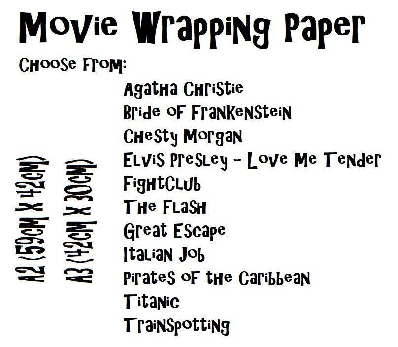 Nuevas películas de papel de embalaje único, estilos 12, A1, A2 o A3 – desde .50  película