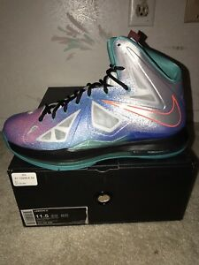 premium selection 5a7c0 2e3c5 Image is loading Nike-Air-Max-LEBRON-X-so-12-PURE-
