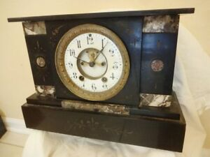 Antique 19th C Seth Thomas Victorian Marble Mantel Clock
