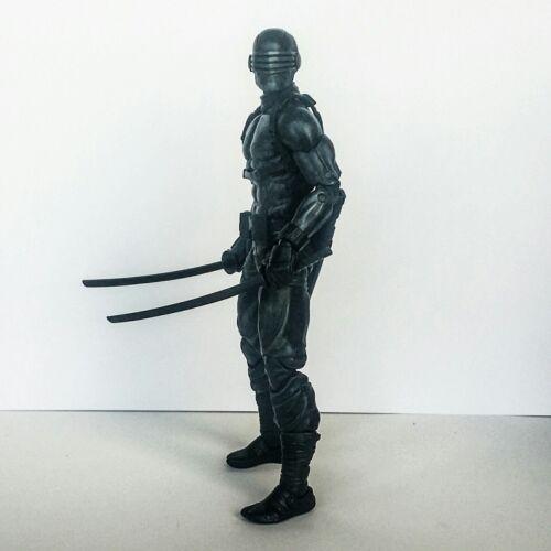 """Custom scolpire G.I Joe Snake-gli occhi dipinto Testa CAST icone ARTICOLATO SCALA 6/"""""""