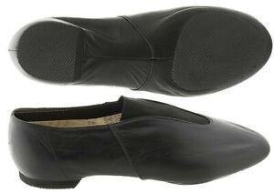 Bloch Pure Jazz  /'S0461/' Split Sole Slip-on Jazz Shoe Black, SO461