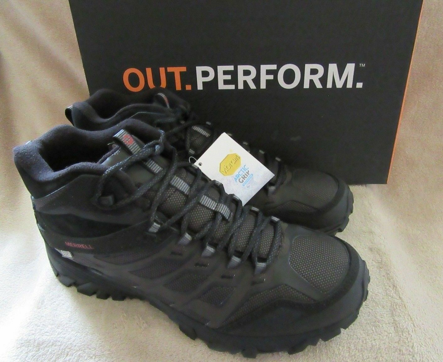 MERRELL J35793 Mens Moab FST Ice+ Thermo Hiking Stiefel schuhe US 11 M EUR 45 NWB