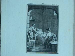XIX O Anteriore Antica Incisione Anonimo Acqua Forte Intitolata Lettura XII Page