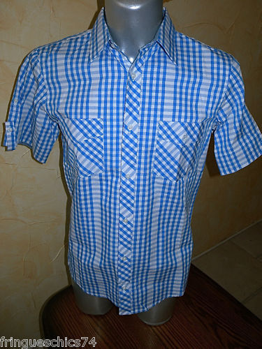 Jolie chemise bluee homme KANABEACH maxwell size M NEUF ÉTIQUETTE