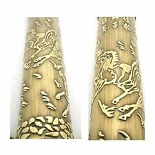 BALL PEN CARVED RUNNING HORSES ROLLER BRONZE (BAOER)