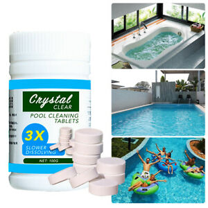 Details about Pool Cleaning Tablets Effervescent Chlorine Disinfectant  Swimming Pool Clarifier