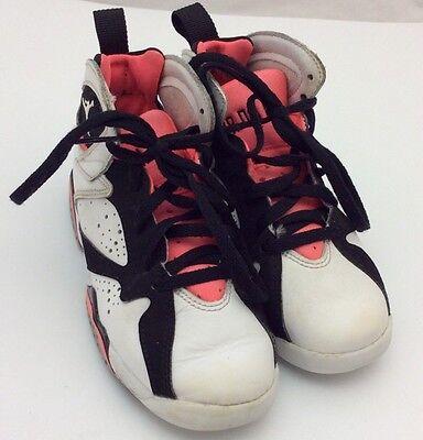 Dashing Nike Air Jordan 7 Retro Gp White/black Hot Pink 442961-106 Girls Preschool 11c Kids' Clothing, Shoes & Accs Clothing, Shoes & Accessories