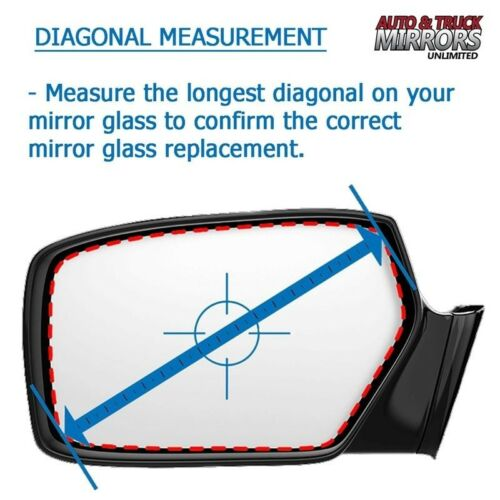 Mirror Glass For 09-14 Nissan Murano Passenger Side Replacement