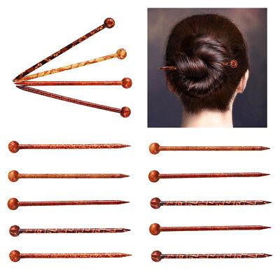 Vintage Frauen Haarstab Haarnadel Haar Stäbchen aus Holz Chinesisches Stil