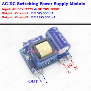 ac dc 110v 220v 230v to 5v 12v converter isolated. Black Bedroom Furniture Sets. Home Design Ideas