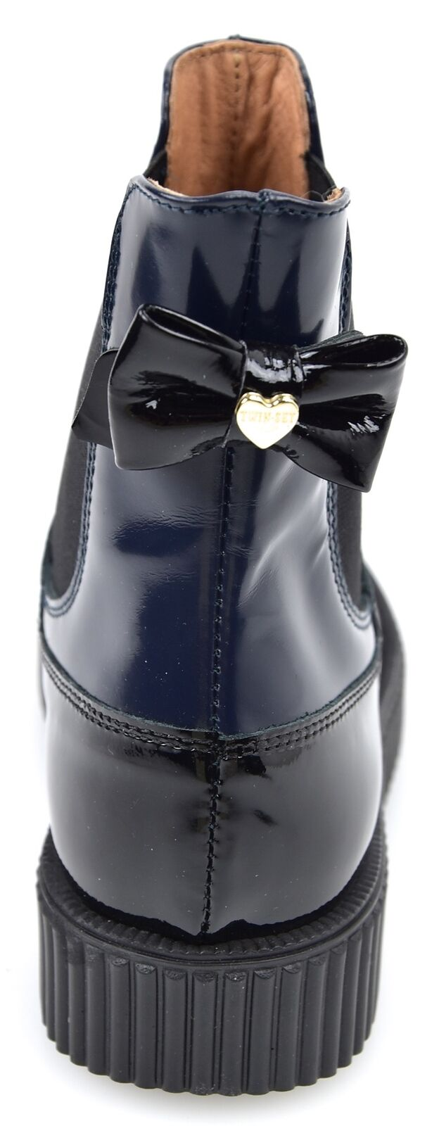 TWIN-SET WOMAN BEATLES ANKLE BOOTS BOOTIES BOOTIES BOOTIES WINTER SHINY LEATHER CODE HA68A7 b590ea