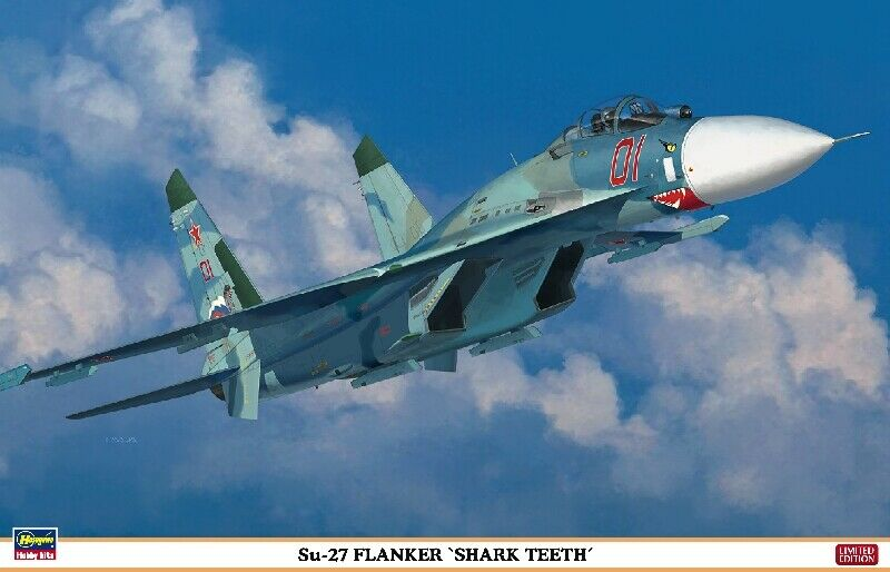 Su-27 Flanker Shark Teeth Fighter 1 72 Plastic Model Kit HASEGAWA