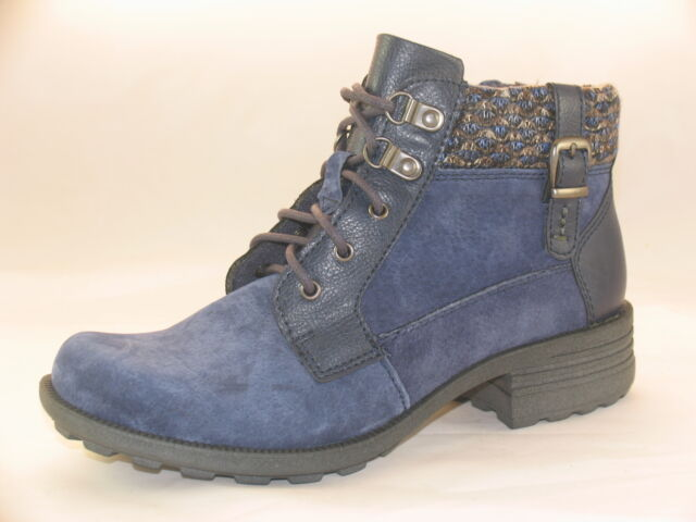 Earth Spirit Mobile Ladies Suede Leather Lace up Side Zip Casual Ankle Boots