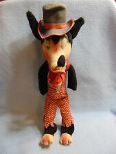 "Very Rare 1930's Disney BIG BAD WOLF 18"" Wool / Plush Doll"