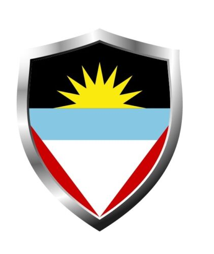 Antigua and Barbuda country shield flag sticker vinyl decal