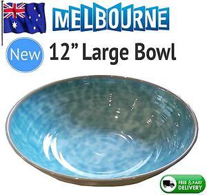 NEW-Jensen-Copenhagen-Serving-Round-Bowl-Fruit-Tableware-Pottery-Denmark-Retro