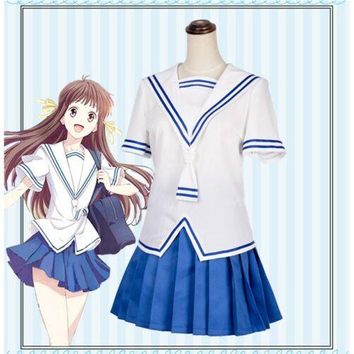 Fruits Basket Tohru Honda Cosplay Costume Women JK School Uniform Outfit Summer