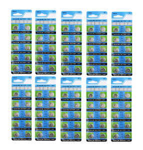 100-X-AG13-LR44-SR44-L1154-357-A76-QUALITY-ALKALINE-BUTTON-COIN-CELLS-BATTERIES