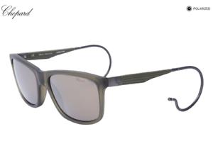 13de62e6ef New CHOPARD Mille Miglia Sunglasses SCH156 73MG Green w Grey Silver ...