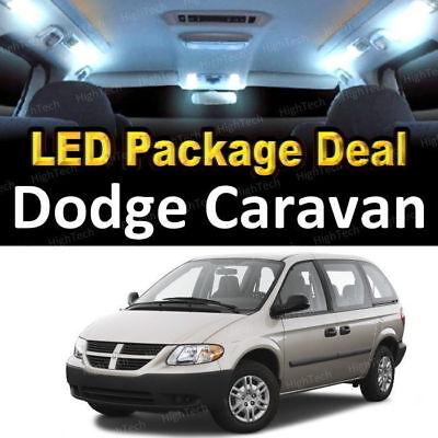 For 2001-2006 2007 Dodge Caravan LED Lights Interior Package Kit WHITE 15PCS