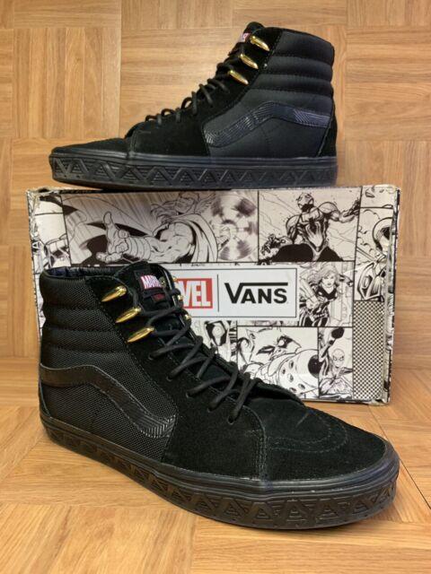 Details zu New Vans VANS X MARVEL SK8 HI Black Panther Shoes Men's Sizes 10, 11, 12